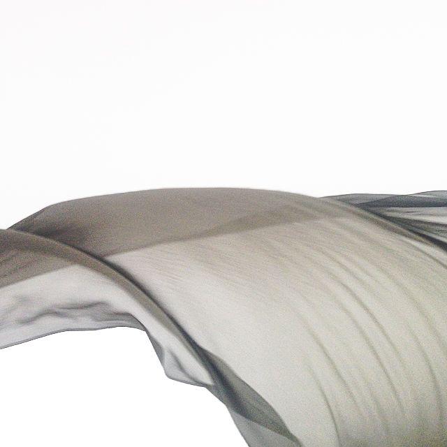 Grey Chiffon silk