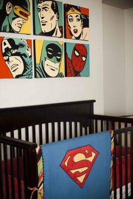 comic book nurserySuperhero Nurseries, Comics Book, Comic Books, Boy Rooms, Baby Boys, Baby Room, Super Heroes, Boys Room, Art Wall