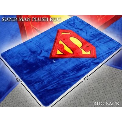 Features:  -Superman Emblem collection.  -Material: 100% Polyester.  -Size: Large.  -Non-woven backing.  -Perfect for any Superman fan.  -Superman shield area rug.  Primary Color: -Blue.  Material: -S