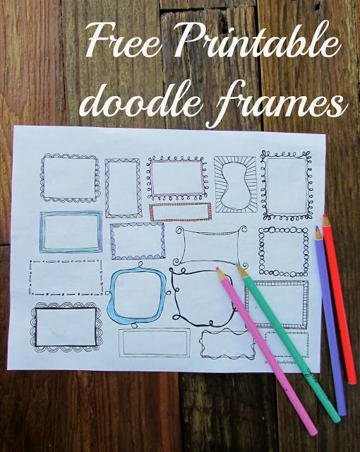 Free doodle frames download.  You could use this for so many things! Gratitude journal, scripture journals, reading list...
