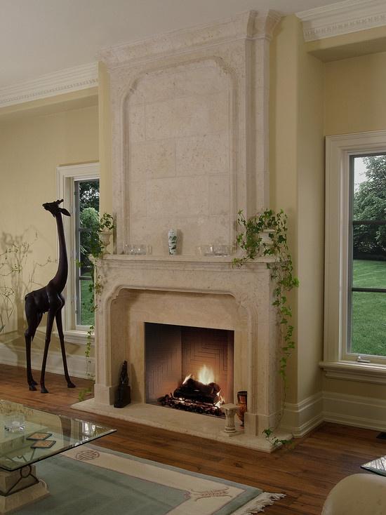 Tartaruga Design Inc Valbonne Mantel With Overmantel Fireplace In Living Room Mediterranean RoomsMantelsTorontoHouzzFireplaces