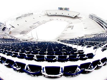A Snow Covered Beaver Stadium Picture at Penn State Nittany Lion Photos