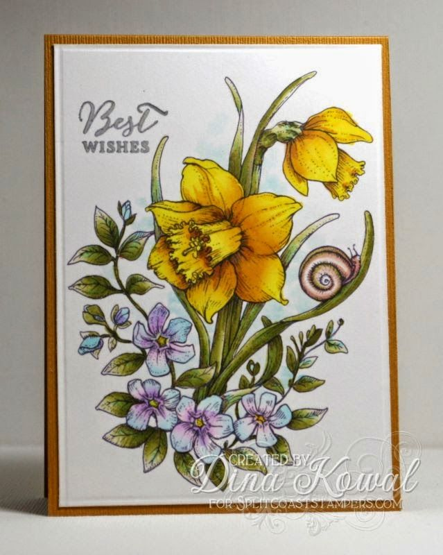 Mama Dini's Stamperia: Mix-Ability: Dancing With Daffodils Digital Stamp Set by Power Poppy!