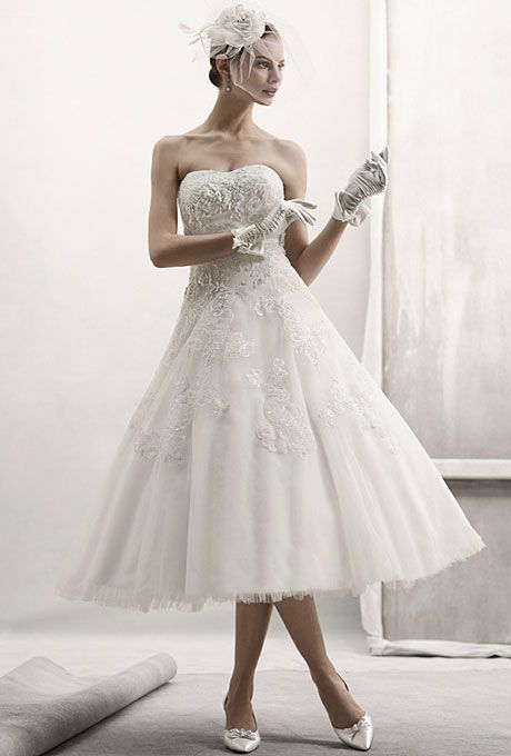 270 best all things oleg cassini images on pinterest for Vera wang tea length wedding dress