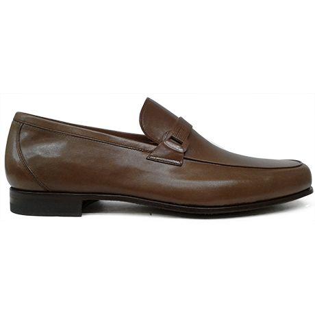 8261 zapato mocasín con antifaz en canguro color cuero de Calce   Calzados Garrido