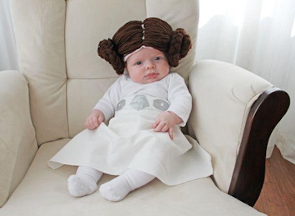 disfraz de princesa leia para bebs casero