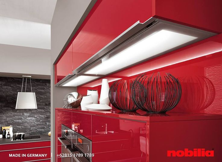 Stunning Nobilia Kitchen This kitchen in red high gloss lacquered laminate is a clear affirmation of colour and a real eye catcher in every home Make your dream