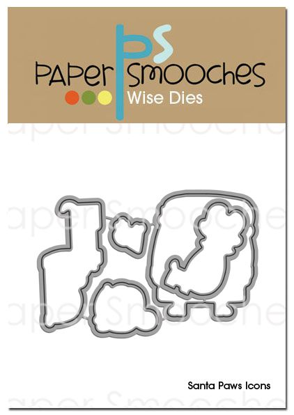 Paper Smooches: Santa Paws Icons Dies