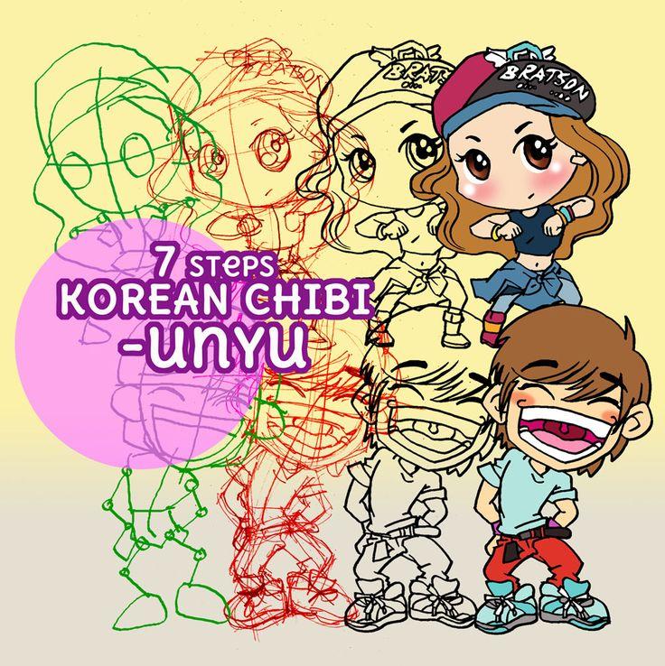 "next project ""7 Steps Korean Chibi - unyu"""