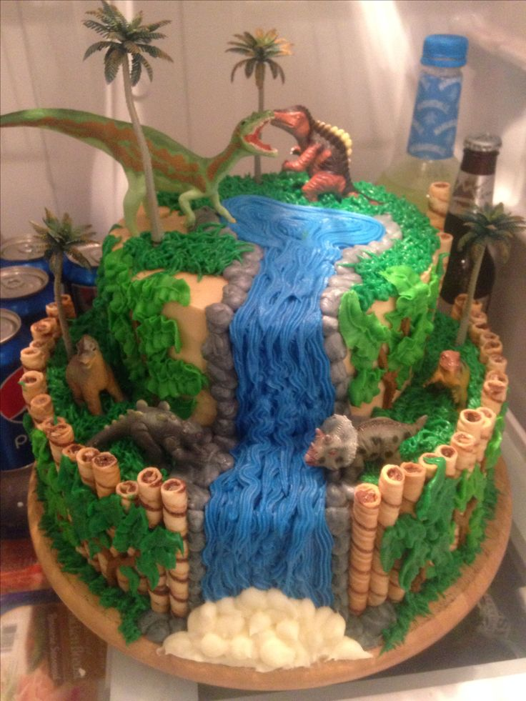 Ethan's dinosaur birthday cake