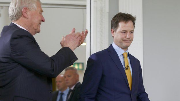 Nick Clegg has resigned as Liberal Democrat leader after his party was routed at the general election. The Lib Dems are set to end up with just eight MPs, down from 57 in 2010.