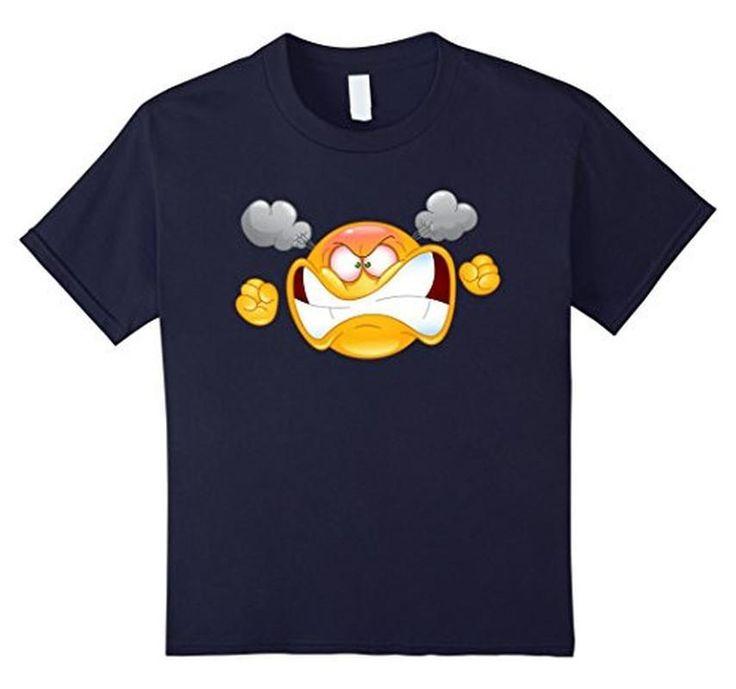 Women's Men's Emoji Furious Angry Emoticon Emoji Tee T-Shirt
