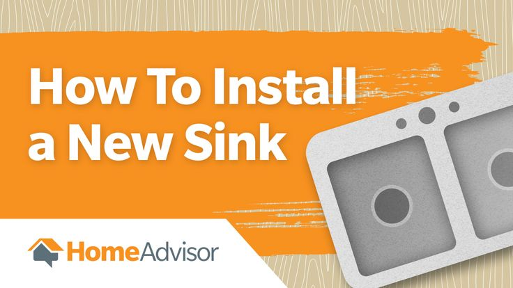 Update your kitchen this weekend. Here's how to install a new sink. #kitchen #project #howto #video #DIY #sink