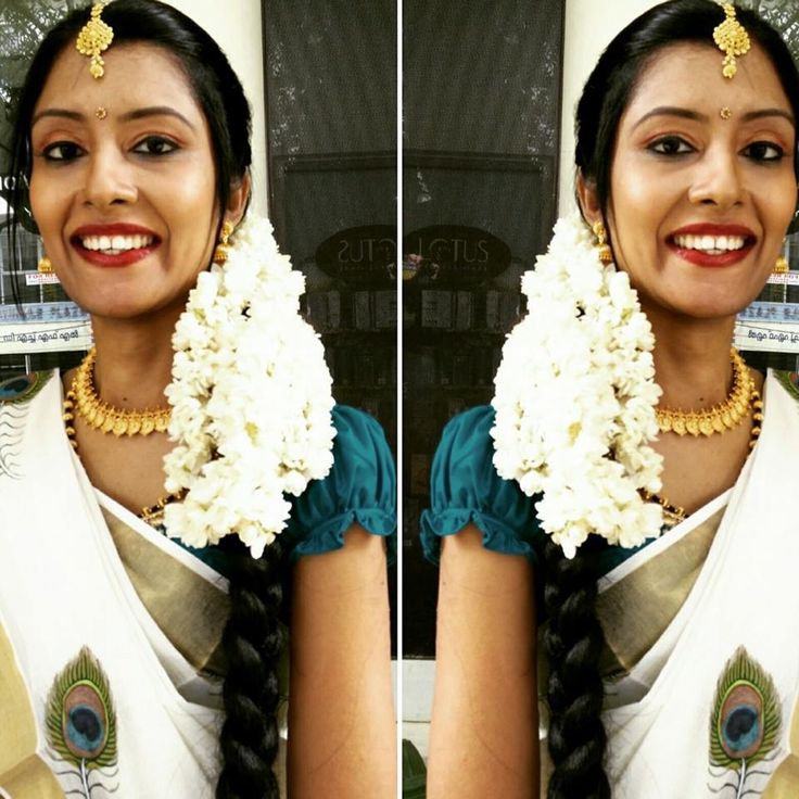 #indian wedding #kerala bride #bridal #south Indian bride  #kerala wedding #makeup #indian bride #kasavu saree #hairstyle #trivandrum