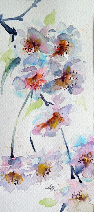 ARTFINDER: Little spring III by Kovács Anna Brigitta - Original watercolour painting on high quality watercolour paper. I love landscapes, still life, nature and wildlife, lights and shadows, colorful sight. Thes...
