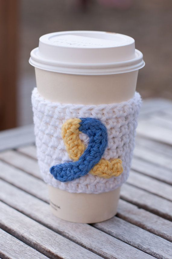 Down Syndrome Awareness Coffee Cozy - World Down Syndrome Day by meredithavenue