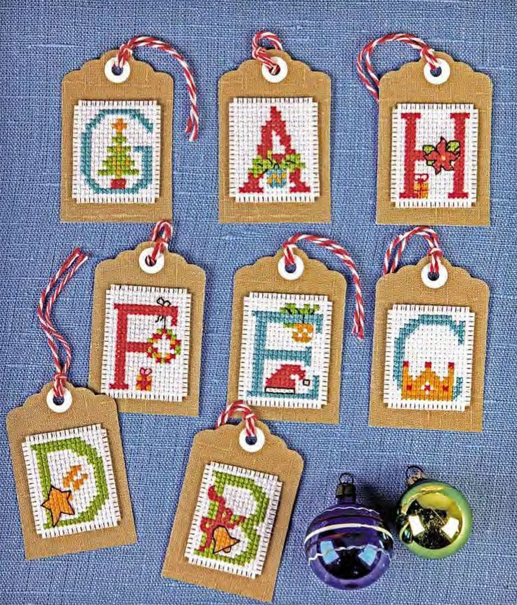 Gift Tags  - Available in CrossStitcher Magazine 299