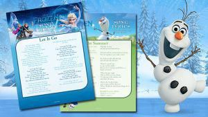 Disney's Frozen Activity Page - Frozen Song Lyrics, Coloring Pages, Recipes, Activities