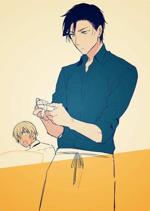 #Conan #bourbon #yaoi Akai Shuichi x Amuro Tooru
