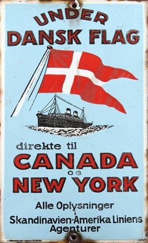 Vare: 3664444Emaljeskilt, Canada og New York, Amerika Linien