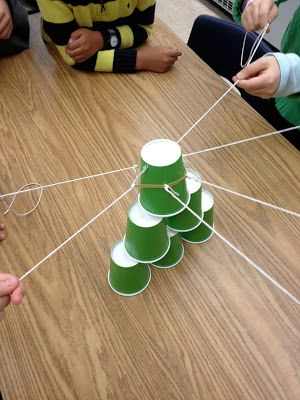 Teamwork: Cup Stack Task. What an excellent idea!!                                                                                                                                                                                 More