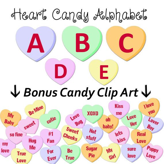 Hey, I found this really awesome Etsy listing at https://www.etsy.com/listing/217784952/valentine-candy-hearts-alphabet-clipart