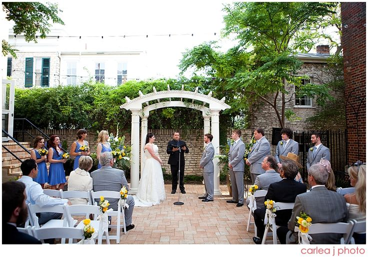 Outdoor Ceremony  Austin, TX   Ellen + Glenn: Texas Federation of Women's Clubs Mansion Wedding » Carlea J Photography