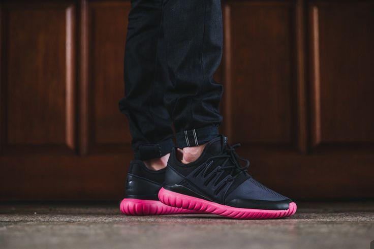 new styles c5820 77c47 Adidas Tubular Radial Black   Burgundy Shoes