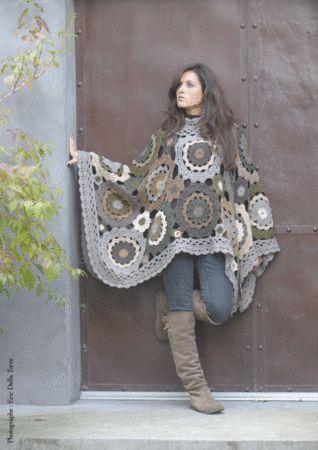 awesome crochet poncho!