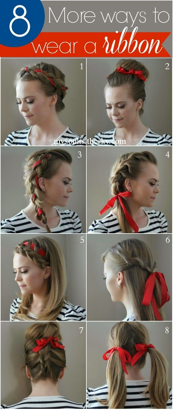 Swell 1000 Ideas About Ribbon Hairstyle On Pinterest Ribbon Braids Hairstyles For Women Draintrainus