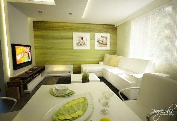 Luminosas y acogedoras salas de estar modernas para la - Como decorar un bar ...