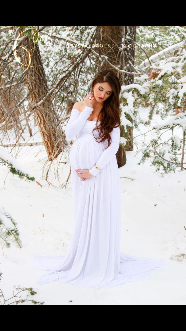 Snowy maternity shoot