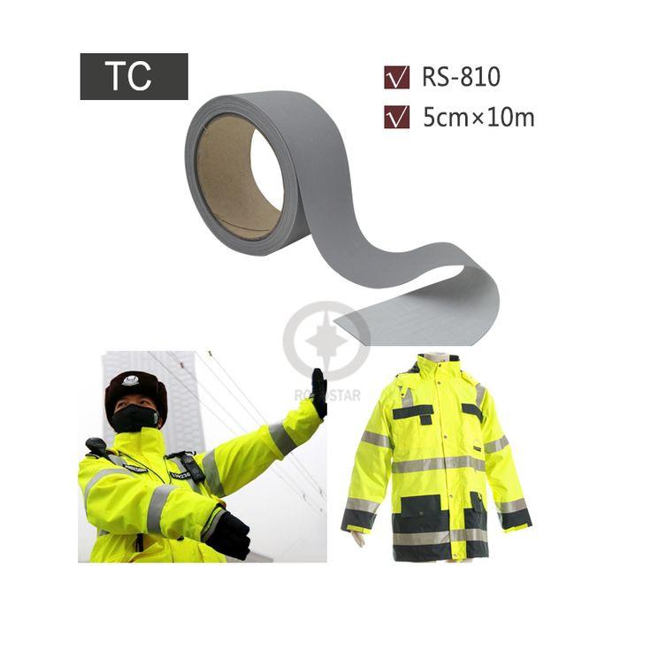 5 cm x 10 m Respaldo TC Tela Cosida en Chaleco Reflectante Reflector para la Seguridad Vial