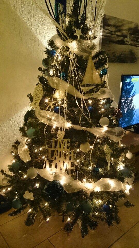 My nautical, maritime, beach theme christmas tree 2014