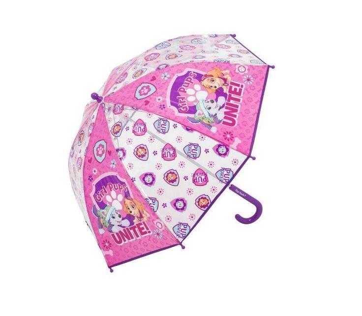 Paw Patrol Pink Umbrella Skye & Everest Themed Girls Umbrella Brolly School Gift #Nickelodeon