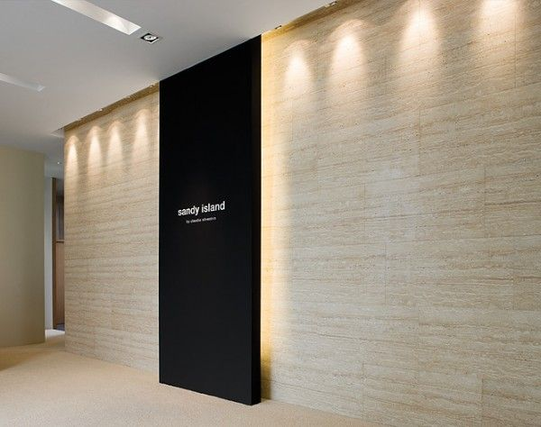 wall lighting signage office entrance ideas