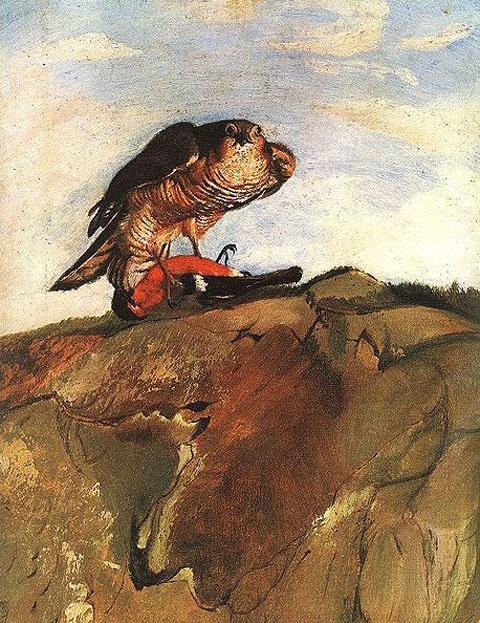 Kosztka, Tivadar Csontvary (1853-1919) - Bird of Prey (Janus Pannonius Museum, Pecs, Hungary)