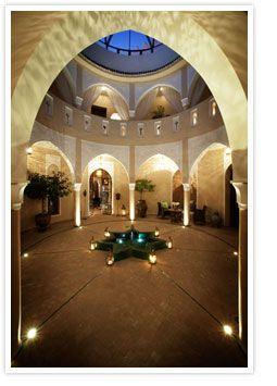 The Great Getaway hotel in a historic urban mansion. Medina / Marrakech, Morocco.
