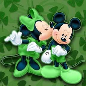 Disney St. Patrick's Day Backgrounds | ... Mickey Disney Kiss Lucky St Patricks, Disney 31, Disney 26, Disney 33