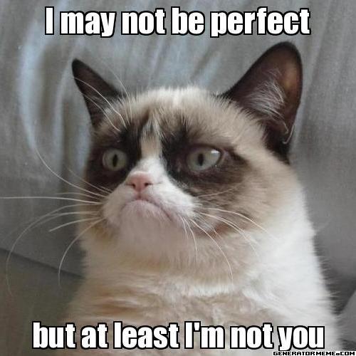 Grumpy Cat has great self-esteem! #grumpycat #meme