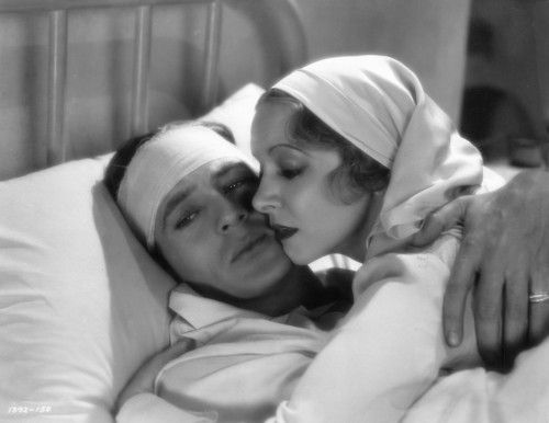 Gary Cooper and Helen Hayes, A Farewell to Arms (1932)  -viarebeccawilde
