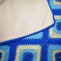 dětská deka háčkovaná, patchwork, podšívka fleece; handmade, crochet blanket