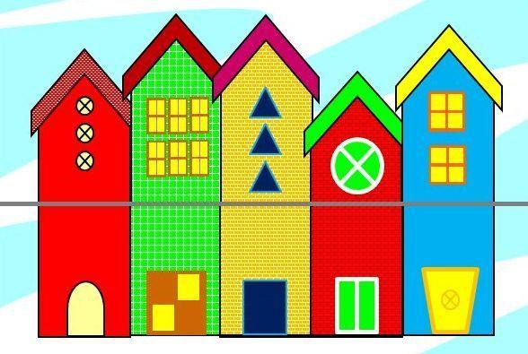 Φτιάχνω ζευγαράκια με τα σπίτιαΣτο παιχνίδι υπάρχει μια πόλη αποτελούμενη από πέντε σπίτια ( διαφορετικά σε μέγεθος , χρώμα , μοτίβο και σχήμα) χωρισμένα στη μέση με μια γκρι γραμμή. Τα μέρη των σπιτιών είναι ανακατεμένα και στόχος του παιχνιδιού είναι να βρούμε τα ίδια μέρη του κάθε σπιτιού για να ολοκληρώσουμε την πόλη. Οι εναλλαγές των τμημάτων γίνονται με κλικ επάνω στο κάθε τμήμα . Επίσης οι φίλοι μας μπορούν να κάνουν και τους δικούς τους συνδυασμούς. Κατά την εναλλαγή ακούγονται ήχοι…