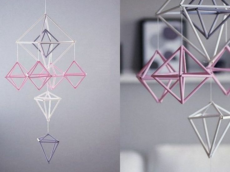 Yup, that's right. You can create geometric mobiles just by using straws. Learn how to create this DIY and more on our website.