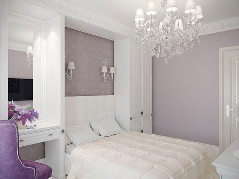 Спальня. Дизайн интерьера загородного дома в стиле Ар-деко на Приозерском шоссе