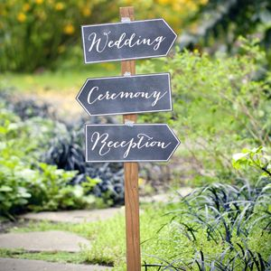 Printable signs to give directions to ceremony and reception.