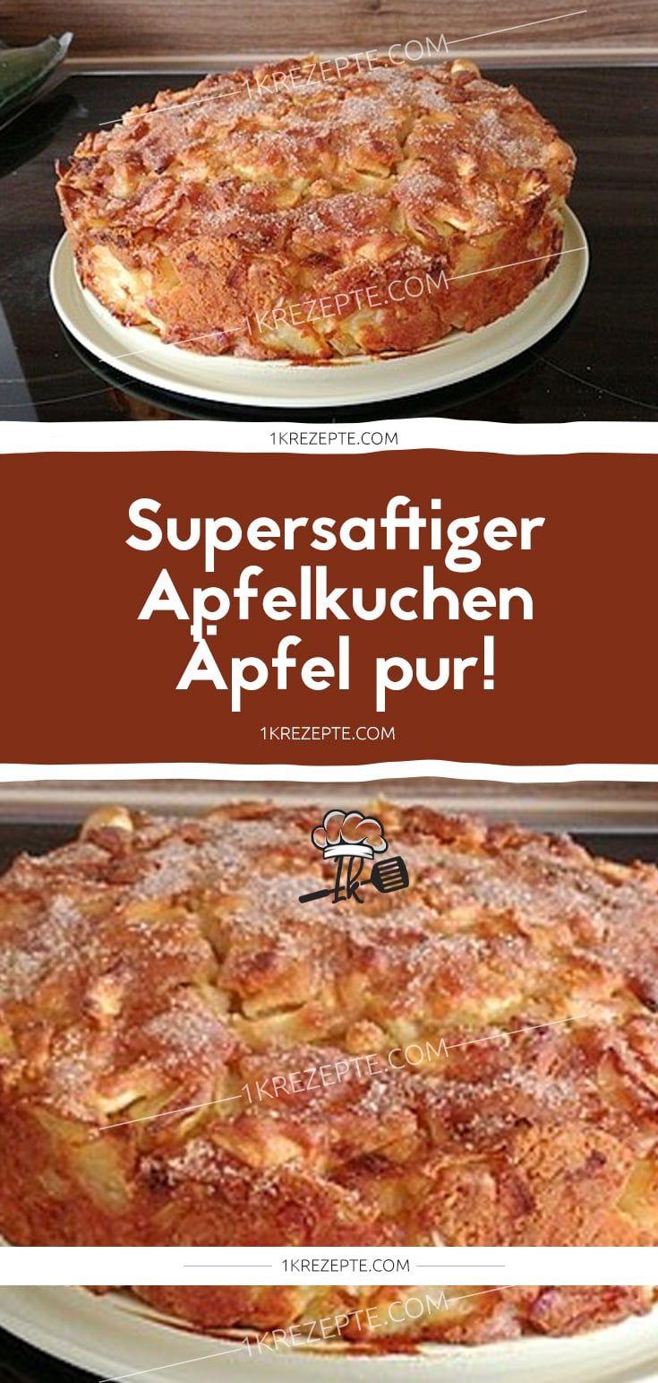 Super Juicy Apple Pie – Reine Äpfel! – 1k Rezepte   – Einfache Rezepte