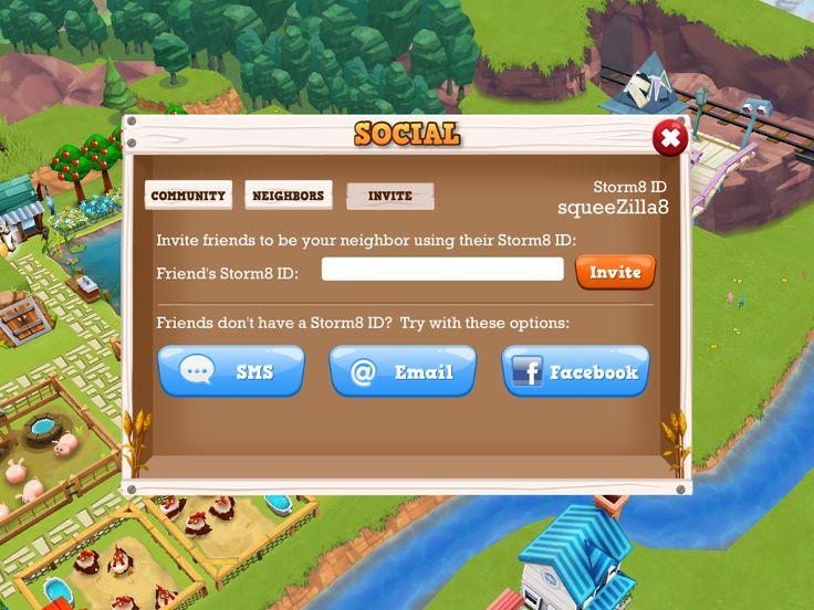 Farm Story 2   Friend Invitation - UI HUD User Interface Game Art GUI iOS Apps Games