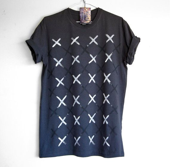 25 Black VS 24 White. 100% cotton T shirt. Hand painted. by Smukie
