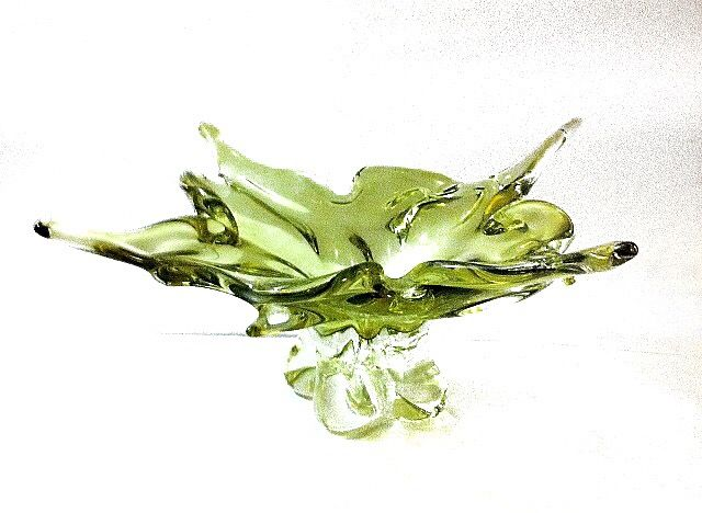 Green Eaton's Special Edition Chalet Glass Bowl